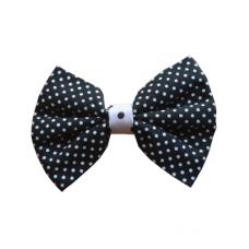 Black Polka Dot Bow Tie